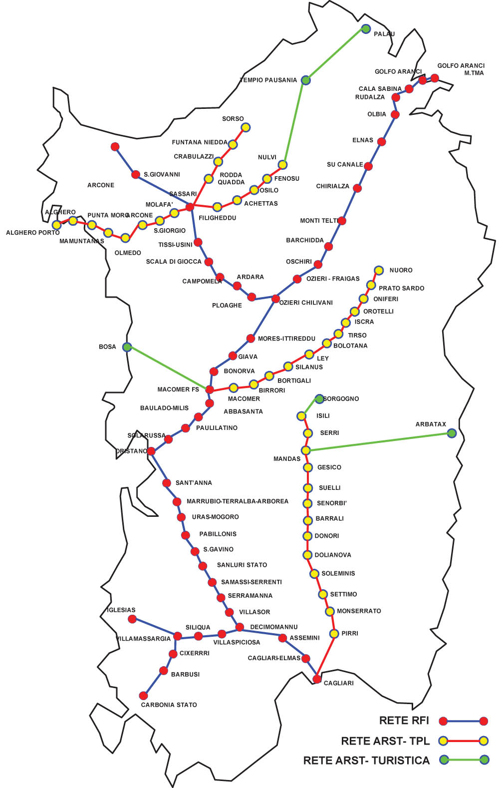 Sardinia Train Map Sardinia Holidays 2020