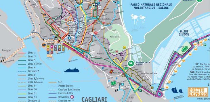 Cagliari Bus Route Map | Sardinia Holidays 2019