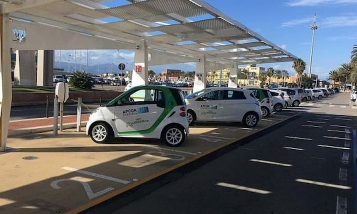 Electric Car Charging Stations In Sardinia