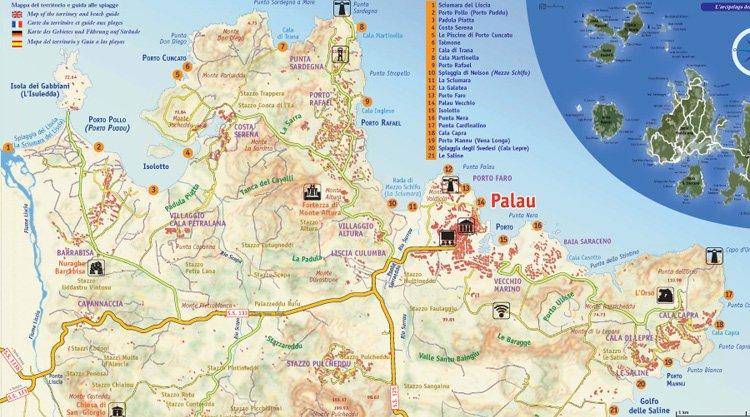 Cartina Stradale Nord Sardegna.Spiagge Palau Sardegna Scoprile Adesso Con Mappa E Foto