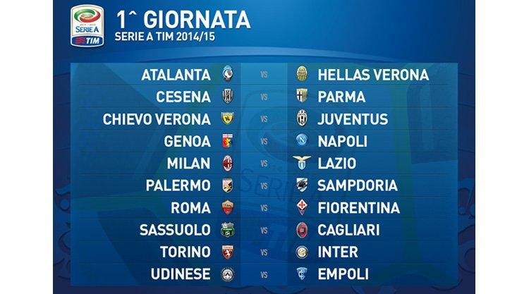 Calendario Serie A 1 Giornata.Calendario Serie A 2014 2015 Cagliari Calcio