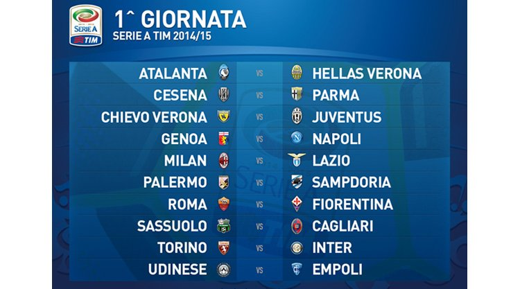 Calendario Seria A Tim.Calendario Serie A 2014 2015 Cagliari Calcio