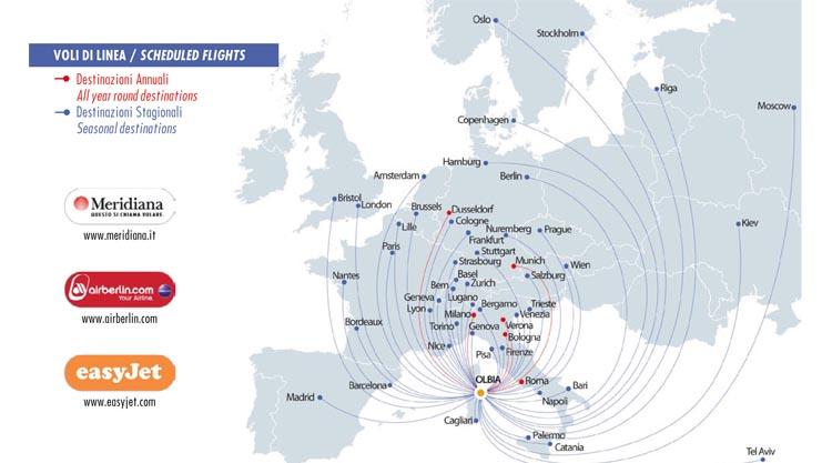 Cartina Sardegna Con Aeroporti.Voli Invernali Olbia 2014 2015
