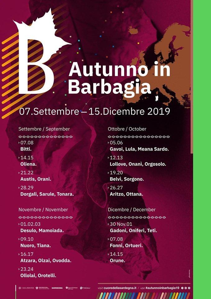 Pagina Di Calendario Settembre 2019.Autunno In Barbagia 2019 Calendario Con Date E Programmi