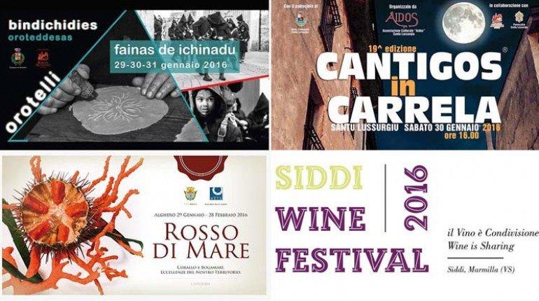 Weekend 29 30 31 Gennaio 2016 Eventi E Sagre In Sardegna