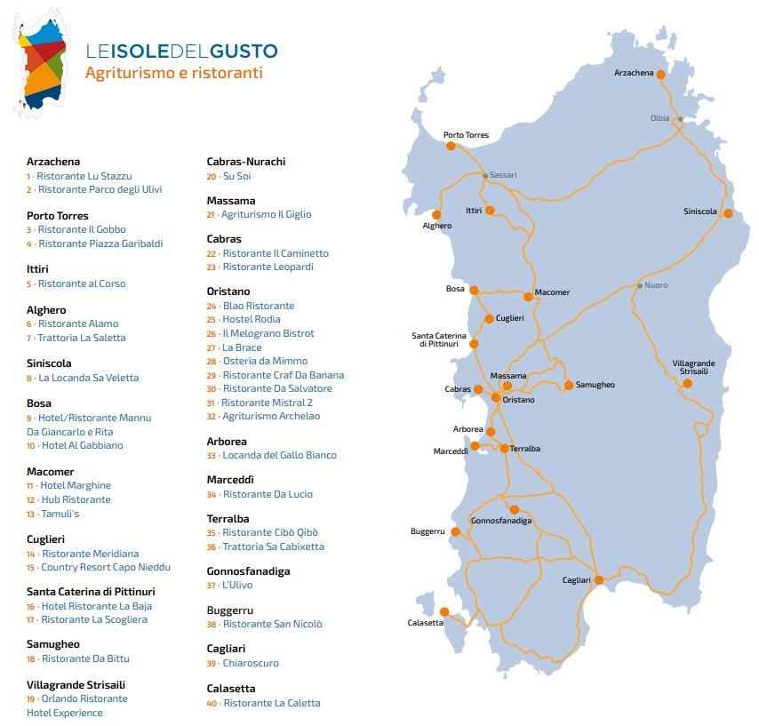 Cartina Sardegna Con Hotel.Le Isole Del Gusto Sardegna 2019 Scopri Tutti I Ristoranti I Menu E I Prezzi